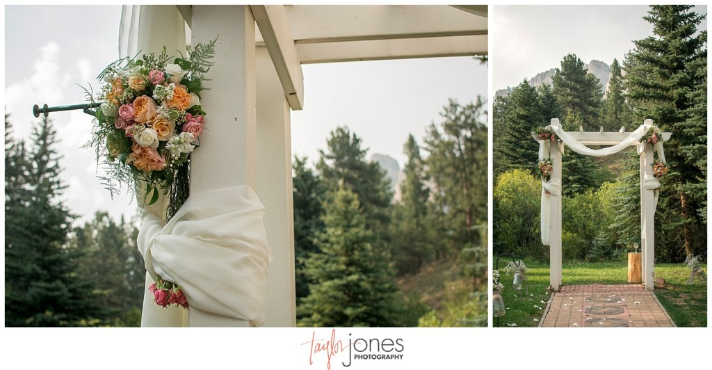 Lower Lake Ranch Pine Colorado wedding photographer ceremony