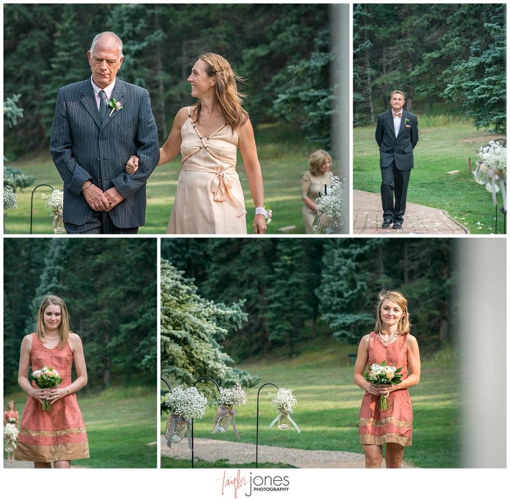 Lower Lake Ranch Pine Colorado wedding photographer ceremony