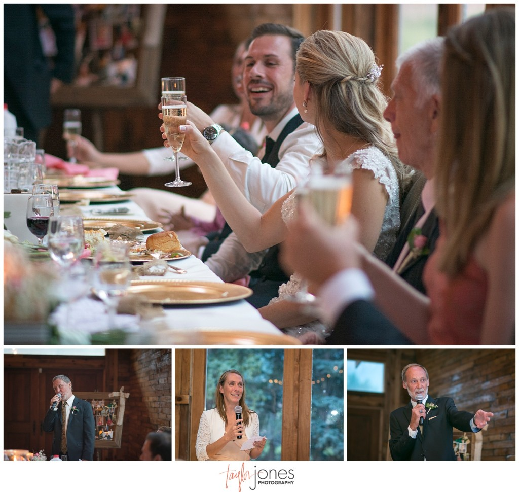 Lower Lake Ranch Pine Colorado wedding photographer reception