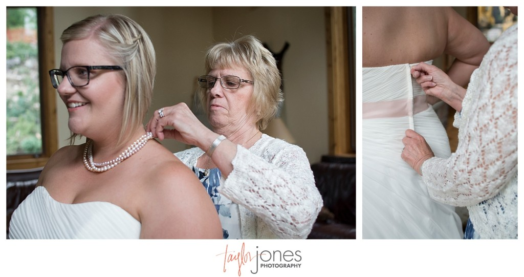 Breckenridge mountain wedding bride details getting ready