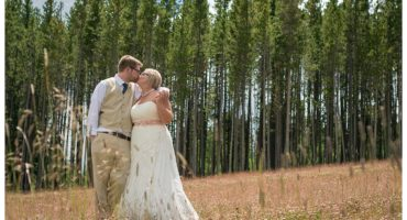 Breckenridge mountain wedding gondola ride first look