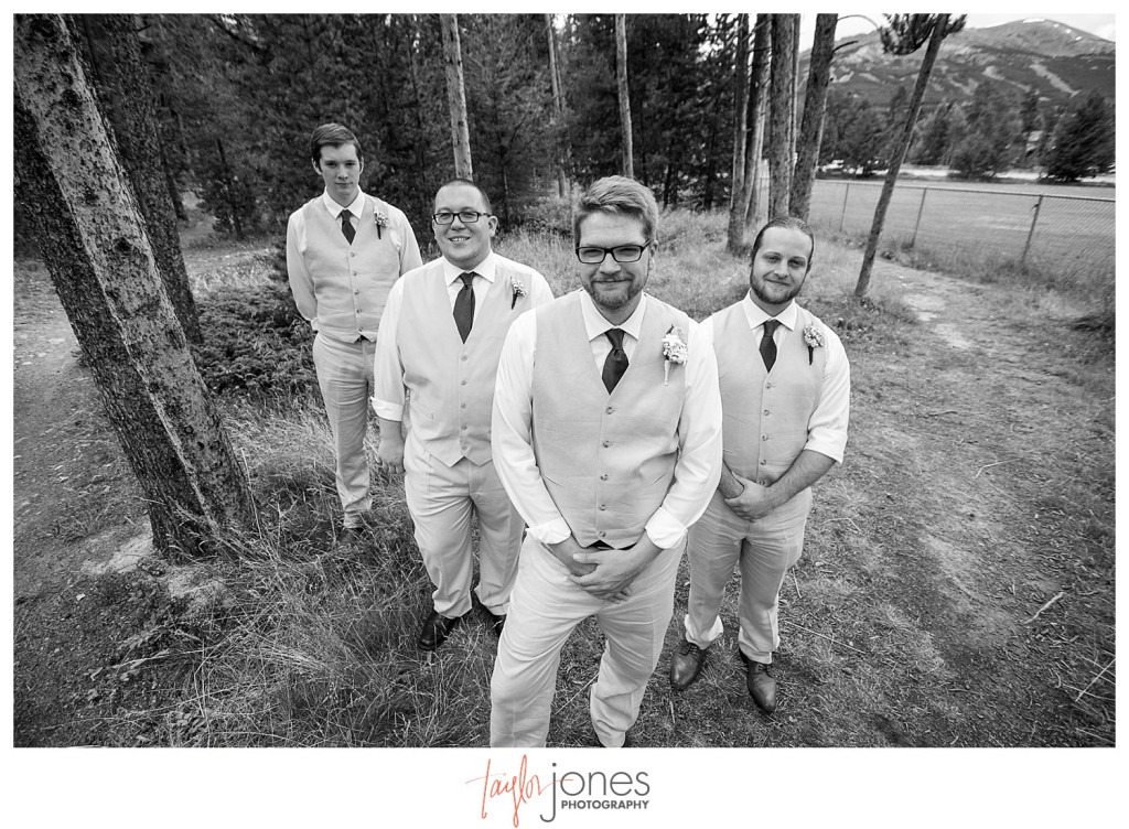 Breckenridge mountain wedding bridal party