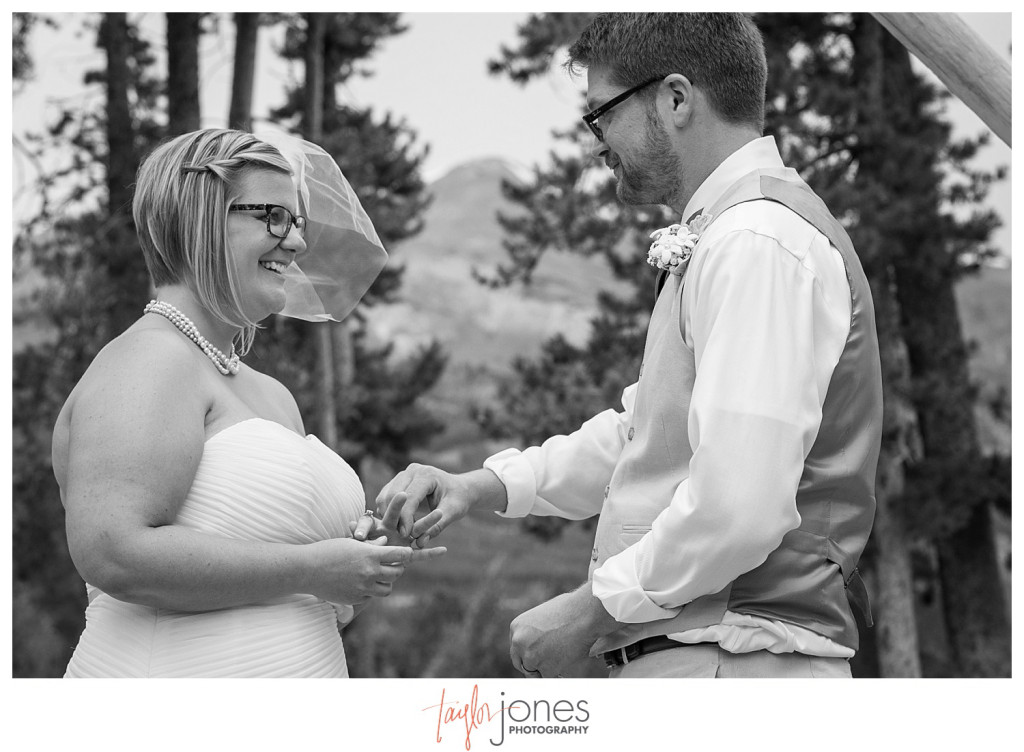 Breckenridge mountain wedding ceremony