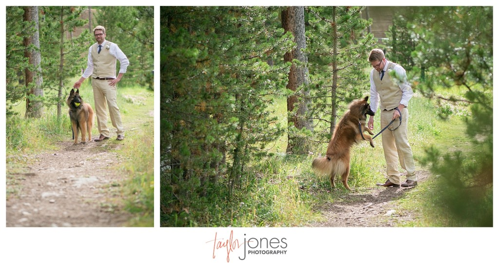 Breckenridge mountain wedding bride and groom portraits