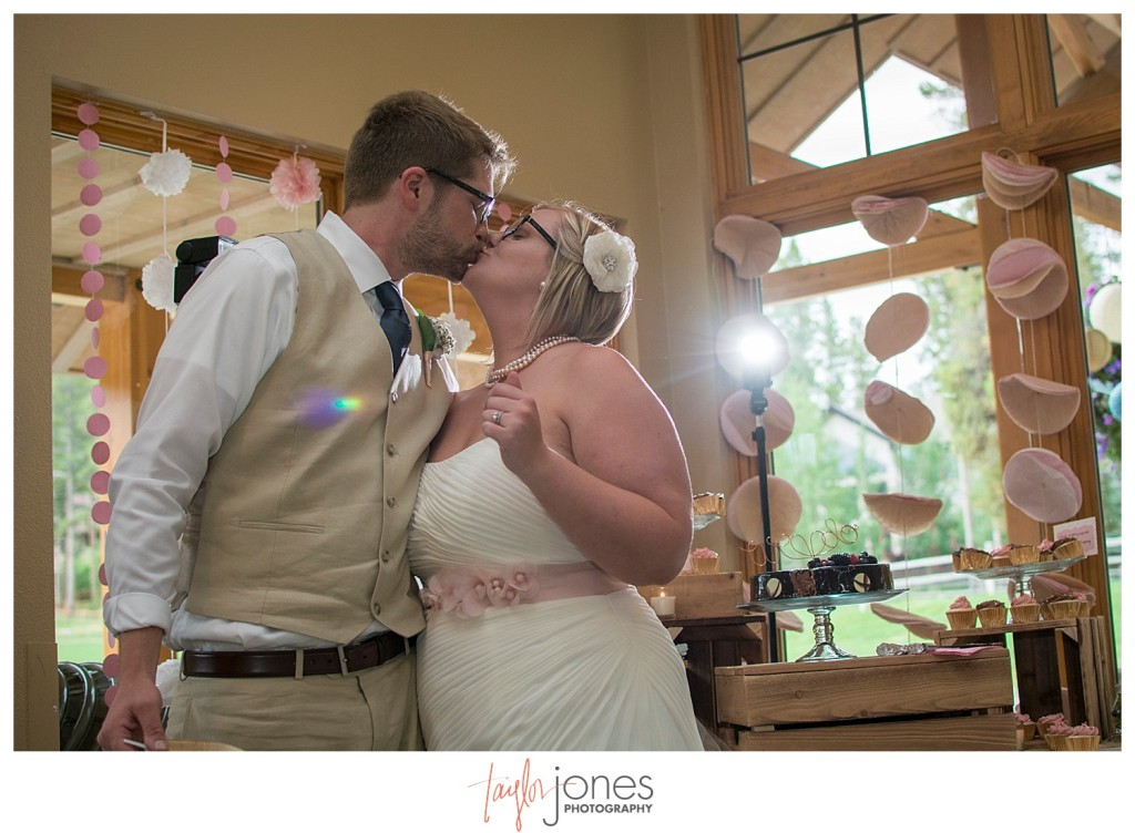 Breckenridge mountain wedding reception
