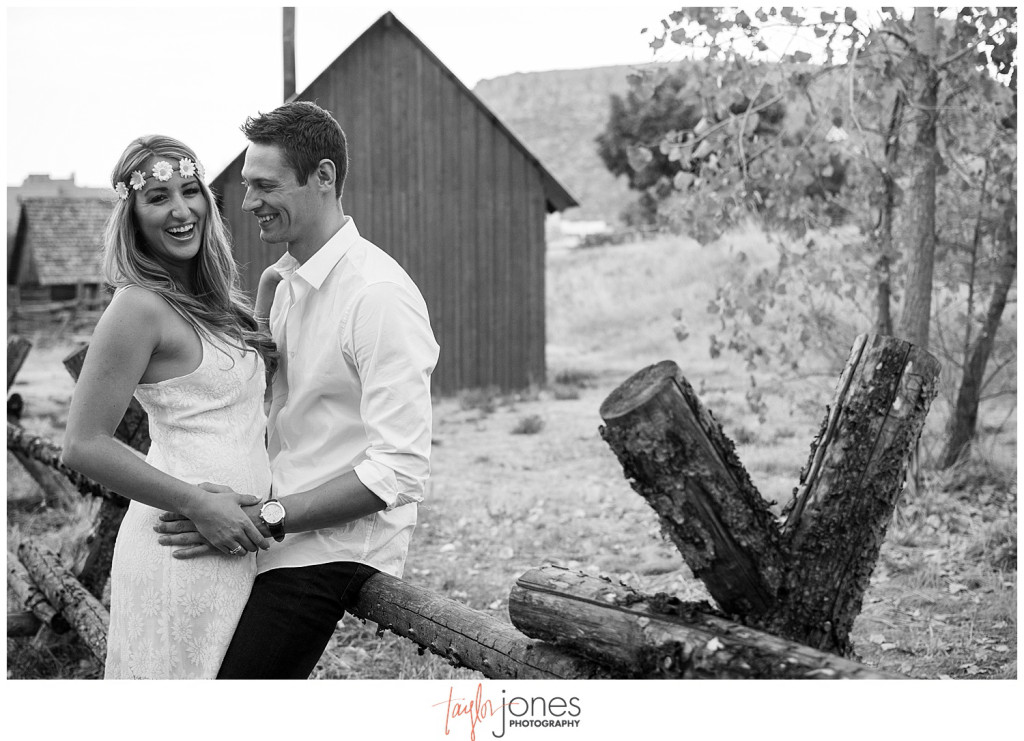 Clear Creek History Park Golden Colorado fall engagement shoot