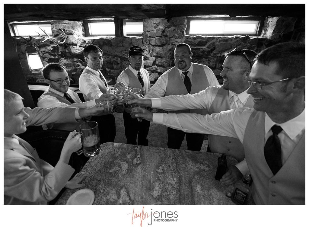 Deer Creek Valley Ranch wedding groom getting ready