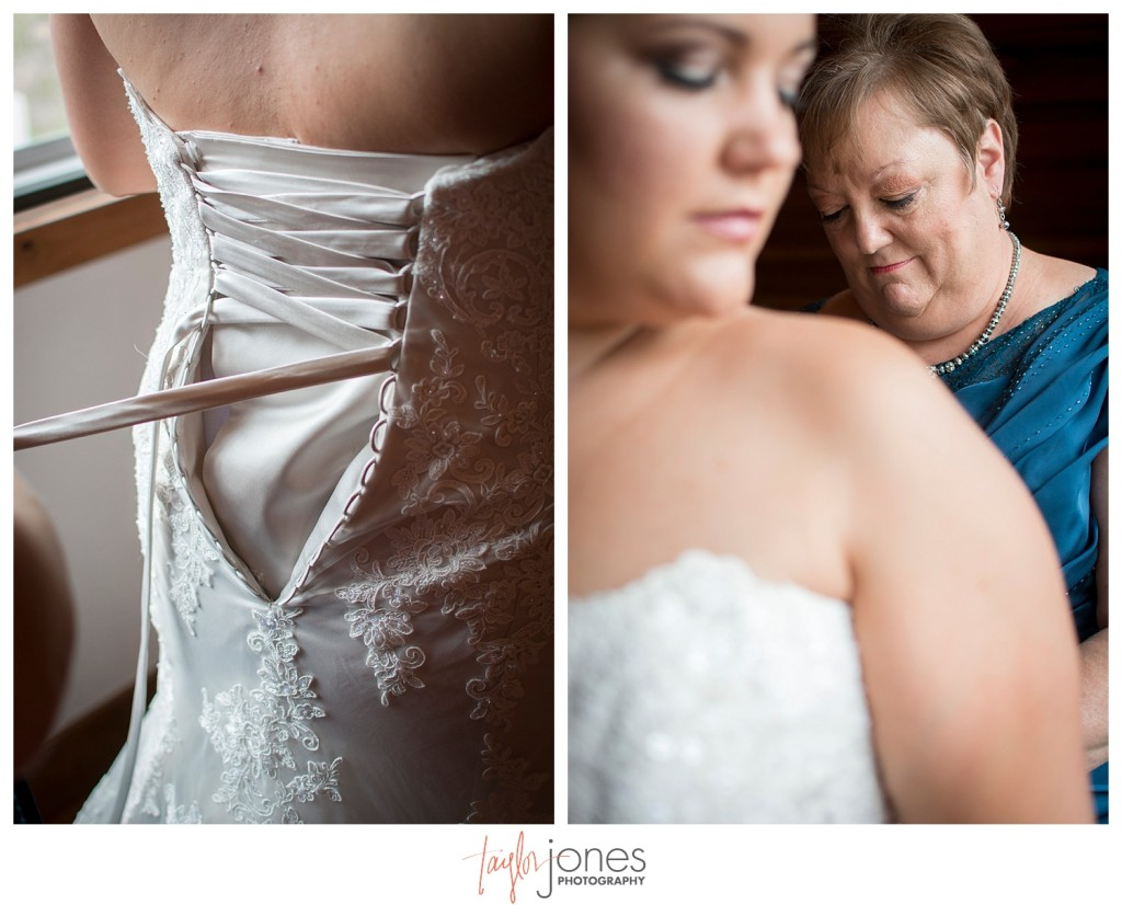 Deer Creek Valley Ranch wedding bride getting ready