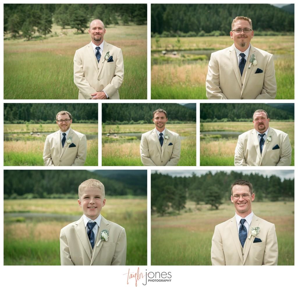 Deer Creek Valley Ranch wedding bridal party portraits