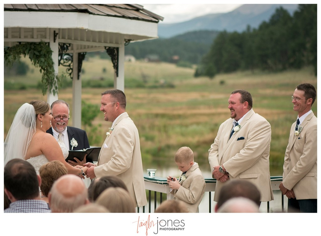 Deer Creek Valley Ranch wedding ceremony