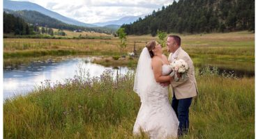 Deer Creek Valley Ranch wedding bride and groom portraits