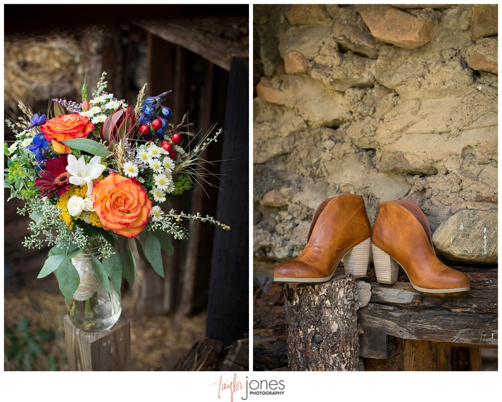 Mountain wedding details in Pine, Colorado