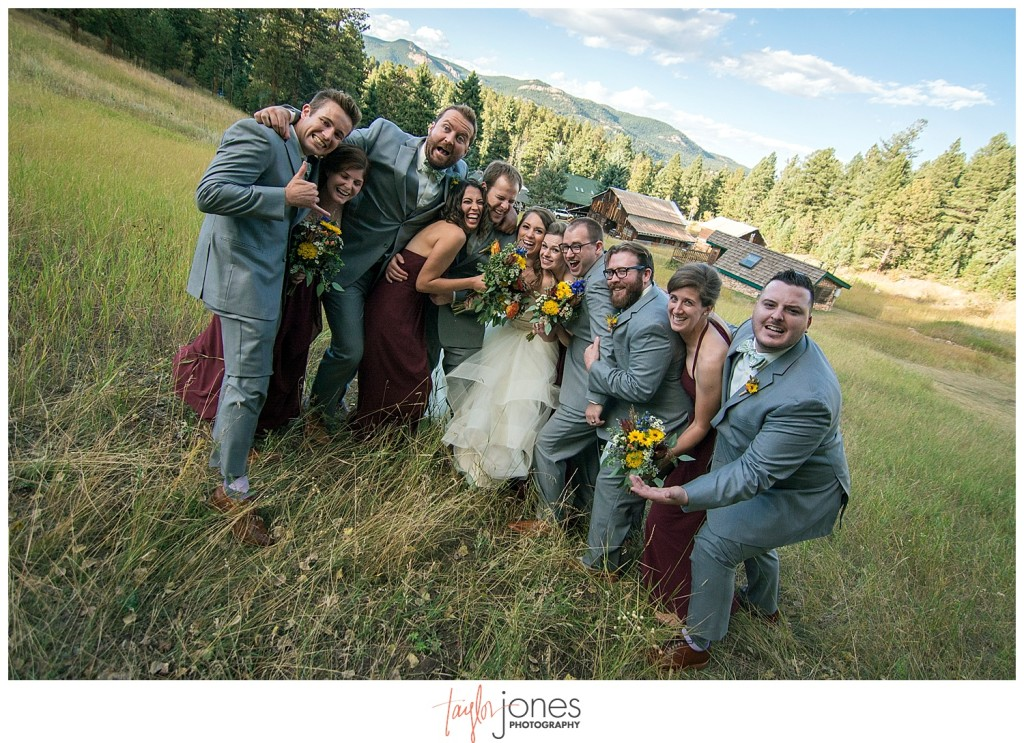 Mountain wedding portraits in Pine, Colorado
