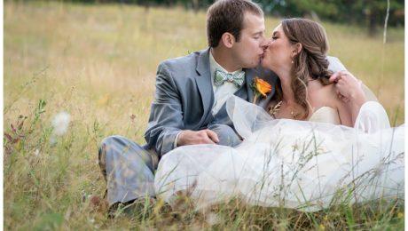 Mountain wedding portraits in Pine, Colorado