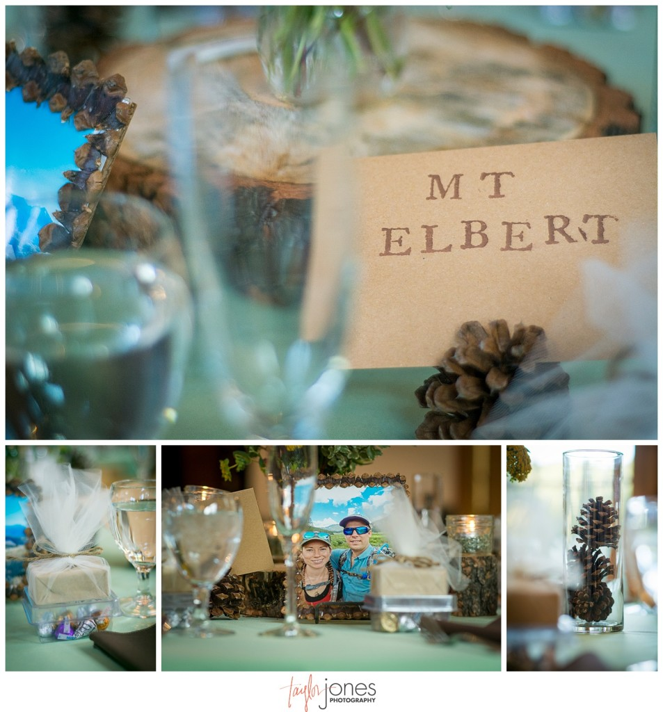 Mountain wedding reception in Pine, Colorado