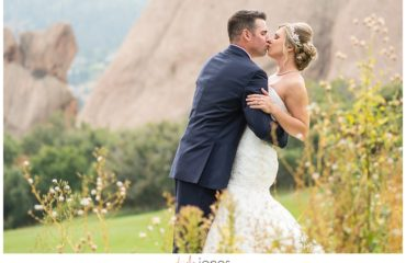Arrowhead Golf Course fall wedding bride and groom first look portraits