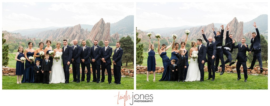 Arrowhead Golf Course fall wedding bridal party portraits
