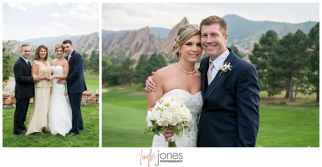 Arrowhead Golf Course fall wedding family portraits