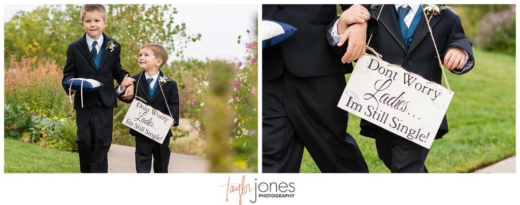 Arrowhead Golf Course fall wedding ceremony