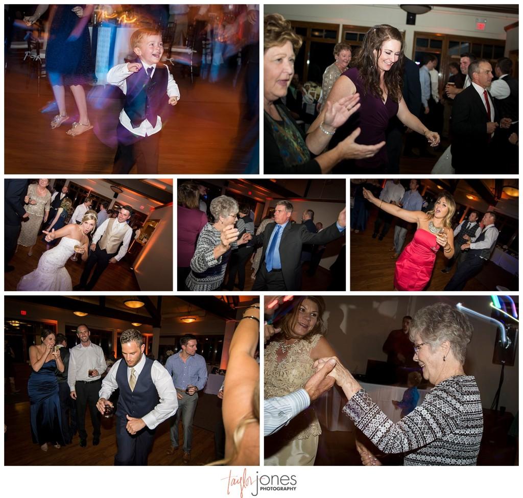 Arrowhead Golf Club fall wedding reception