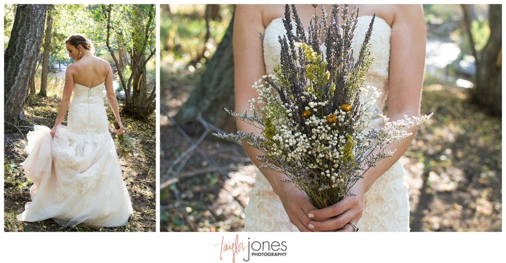 Pines at Genesee fall wedding bride and groom portraits
