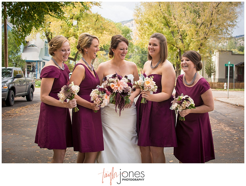 Durango Colorado fall wedding bridal party portraits