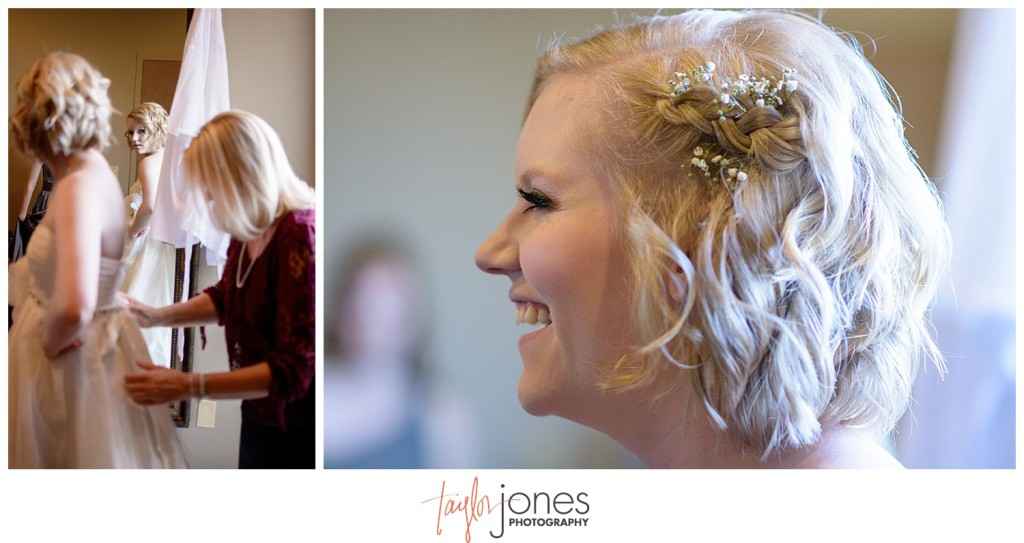 Pines at Genesee fall wedding photographer details and bride getting ready