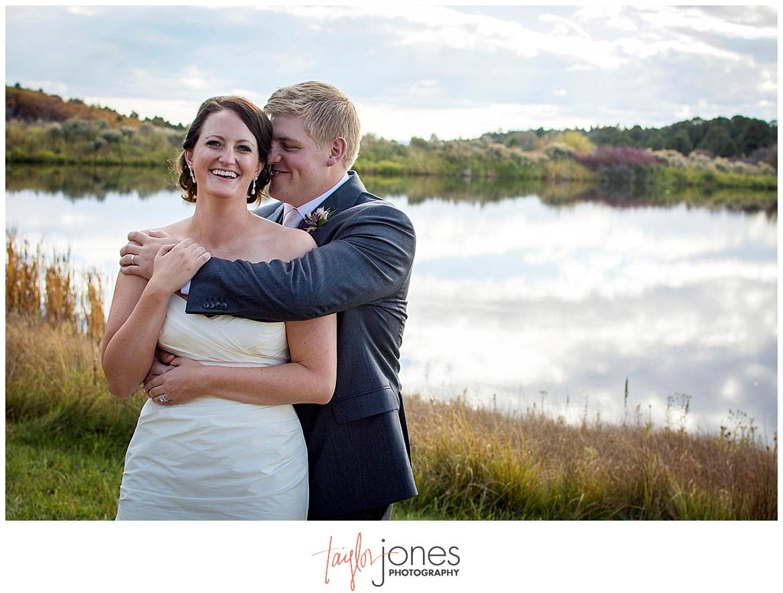 Durango Colorado fall wedding bride and groom portraits Blue Lake Ranch San Juan mountains