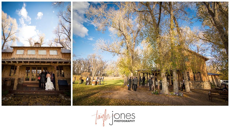 Durango Colorado fall wedding reception Blue Lake Ranch