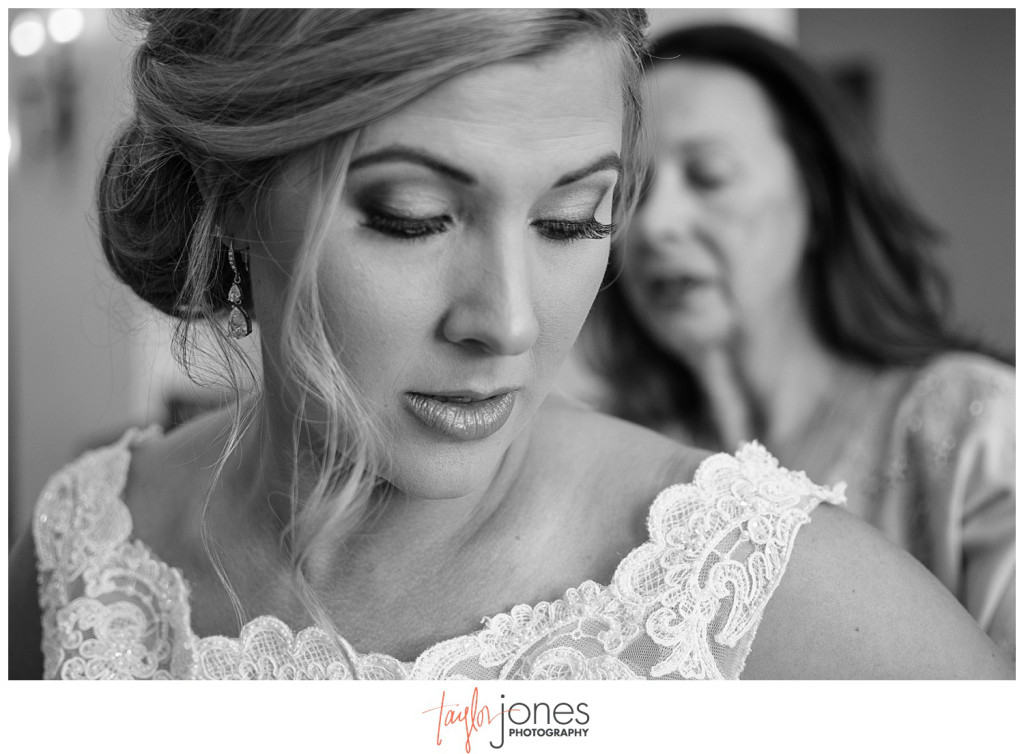 Bride getting ready for wedding in Parker Colorado