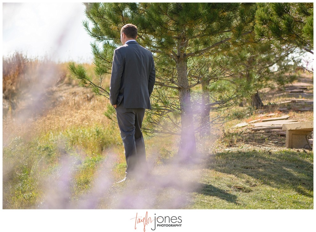 Parker Colorado wedding first look