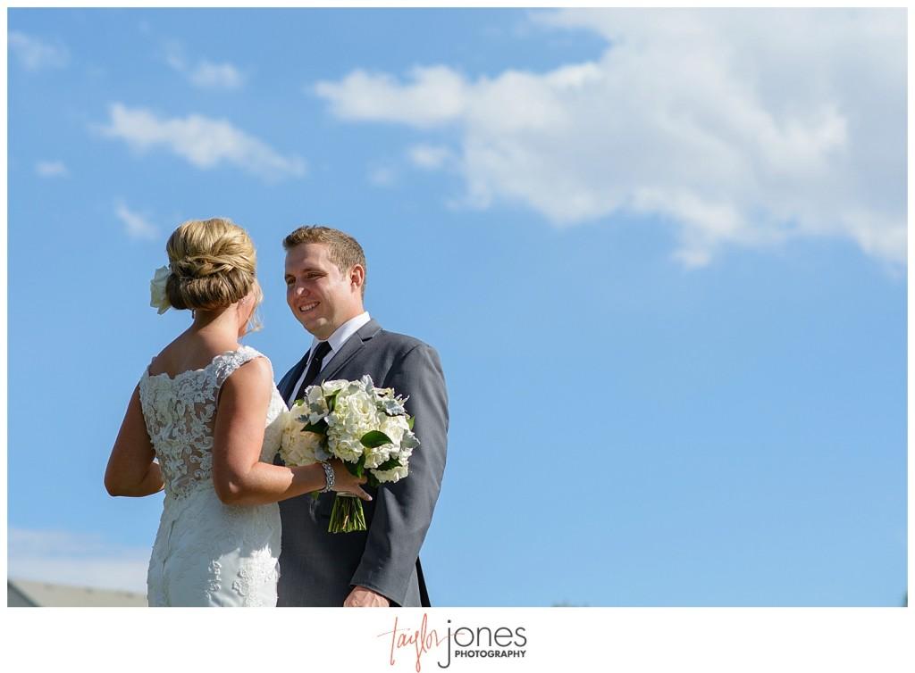 Parker Colorado wedding first look
