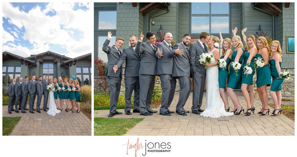 Parker Colorado wedding bridal party