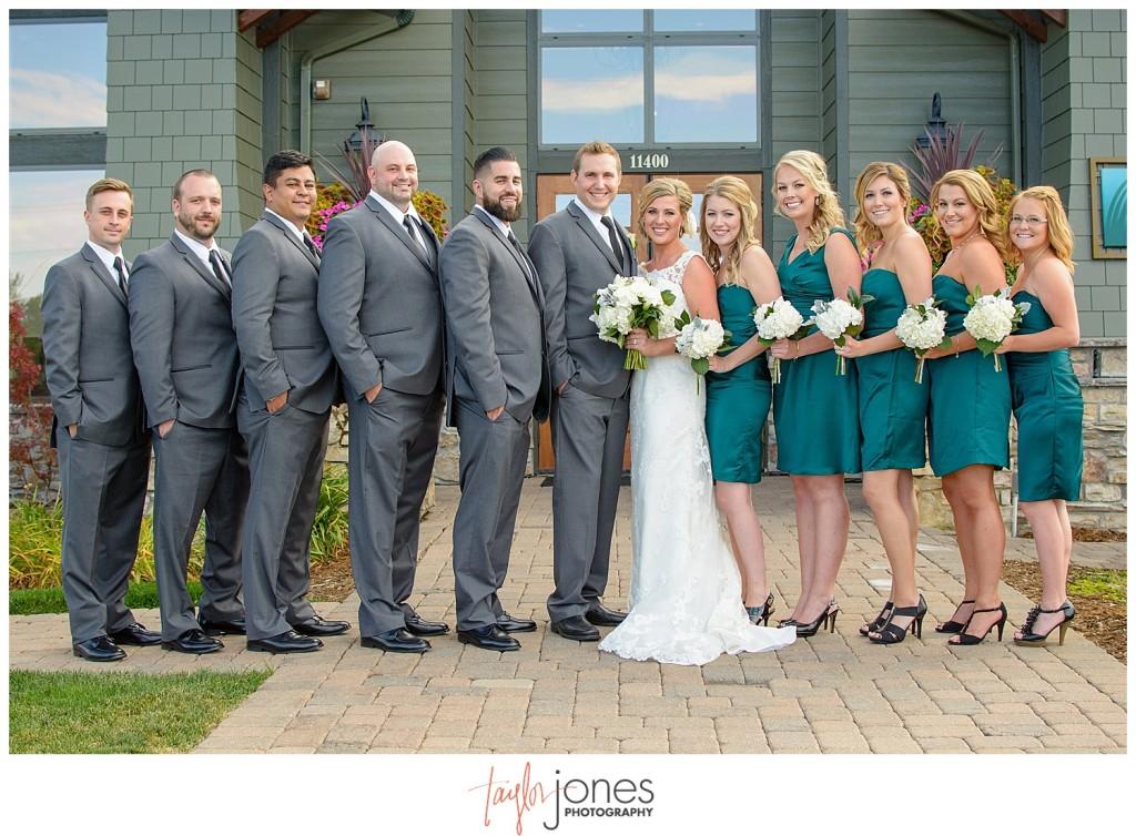 Parker Colorado wedding bridal party