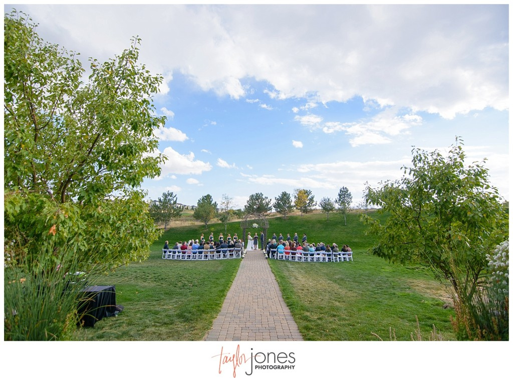 Parker Colorado wedding ceremony Black bear golf club