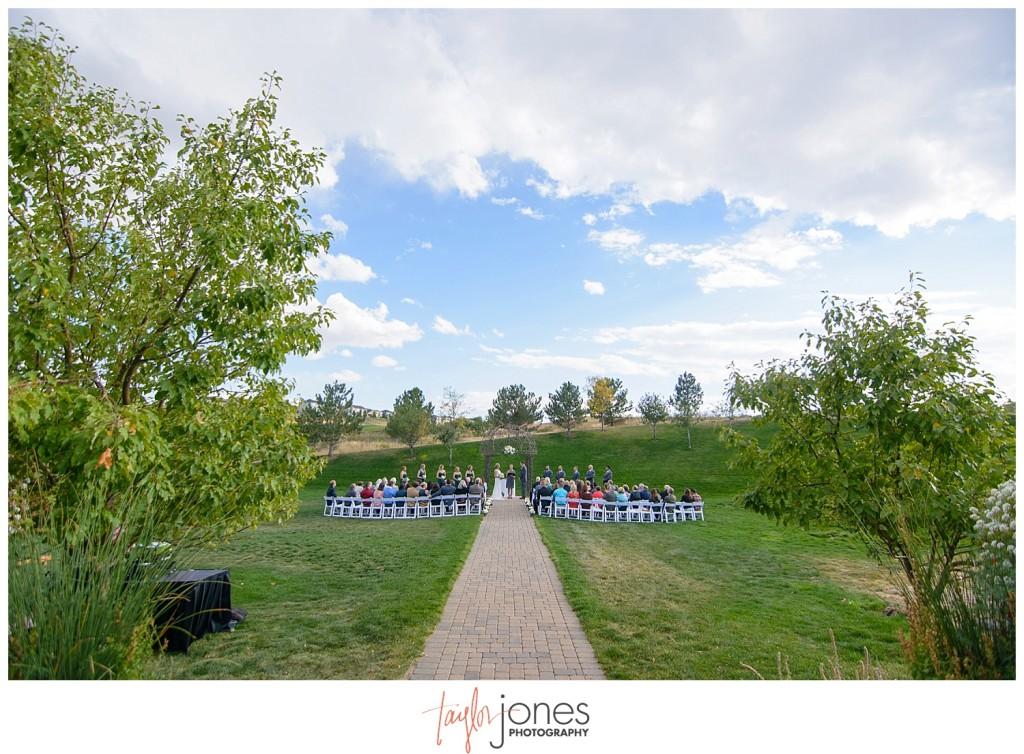 Parker Colorado wedding ceremony Black bear golf club