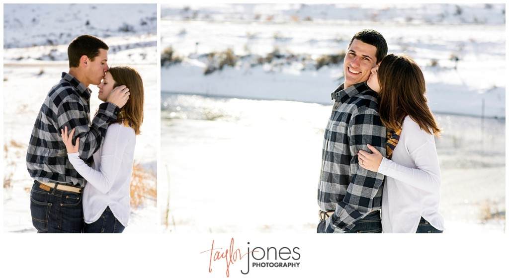 Colorado mountain engagement shoot in the winter
