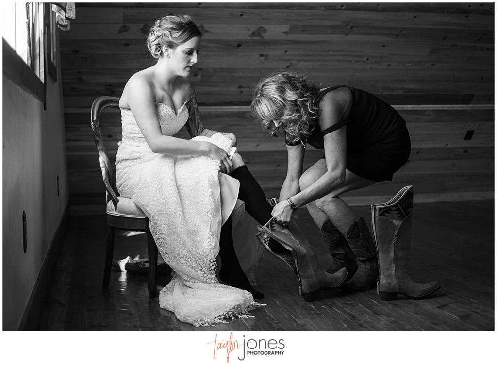 Bride getting ready at Deer Creek Valley Ranch wedding