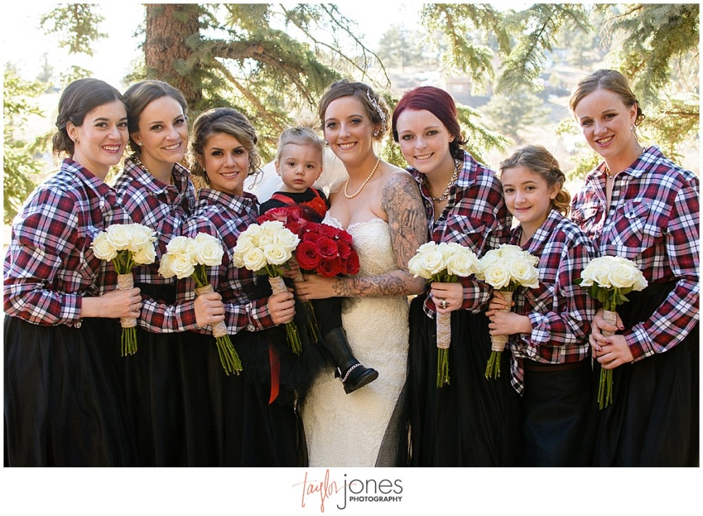 Deer Creek Valley Ranch wedding bridal party