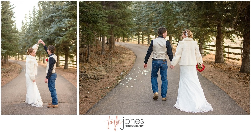 Deer Creek Valley Ranch winter wedding photographer
