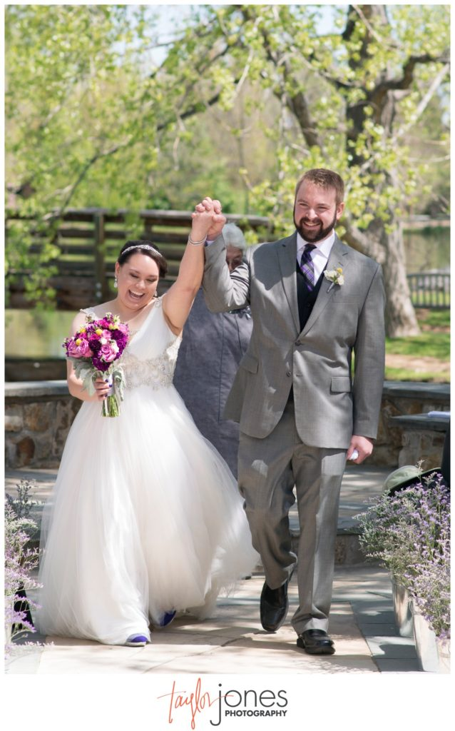 Hudson Gardens wedding ceremony