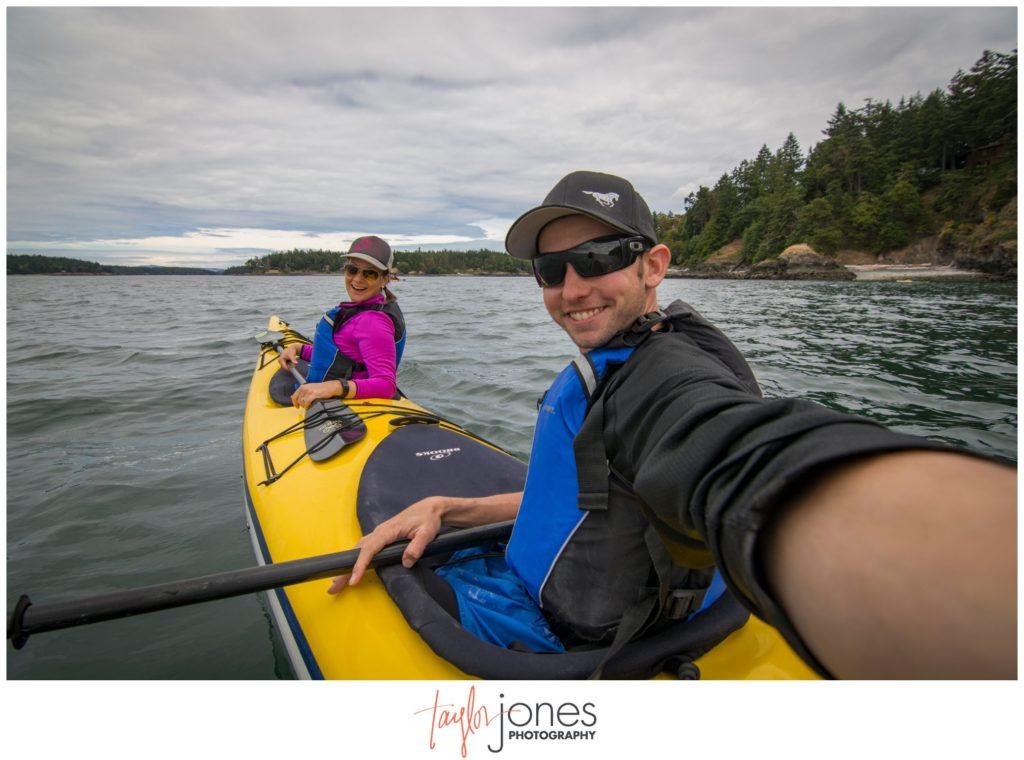 Sea kayaking in the San Juan Islands