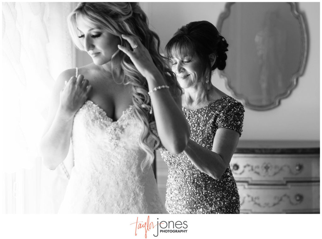 Bride getting ready at Highlands Ranch Mansion