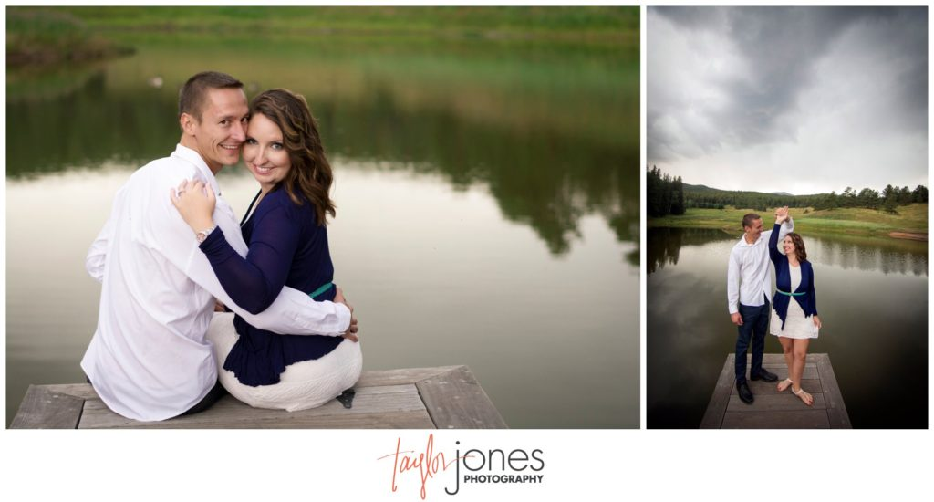 Evergreen engagement shoot photographer