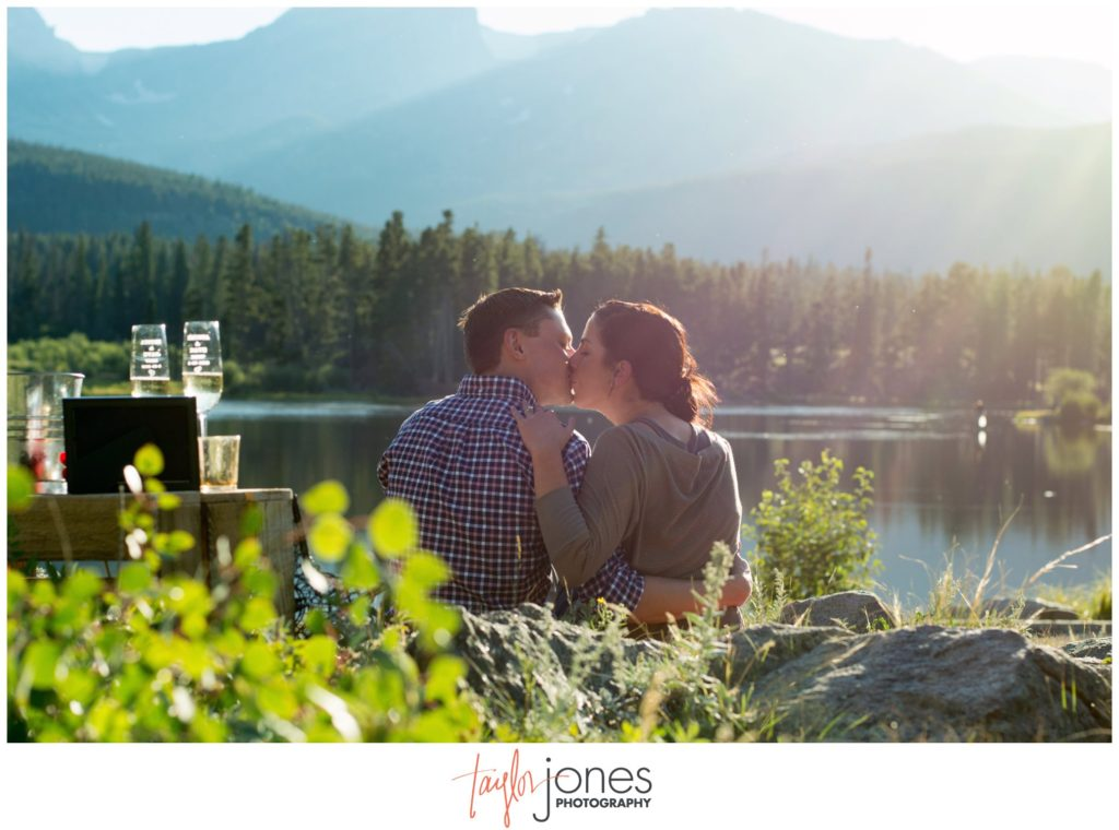 Sprague Lake Rocky Mountain National Park engagement proposal