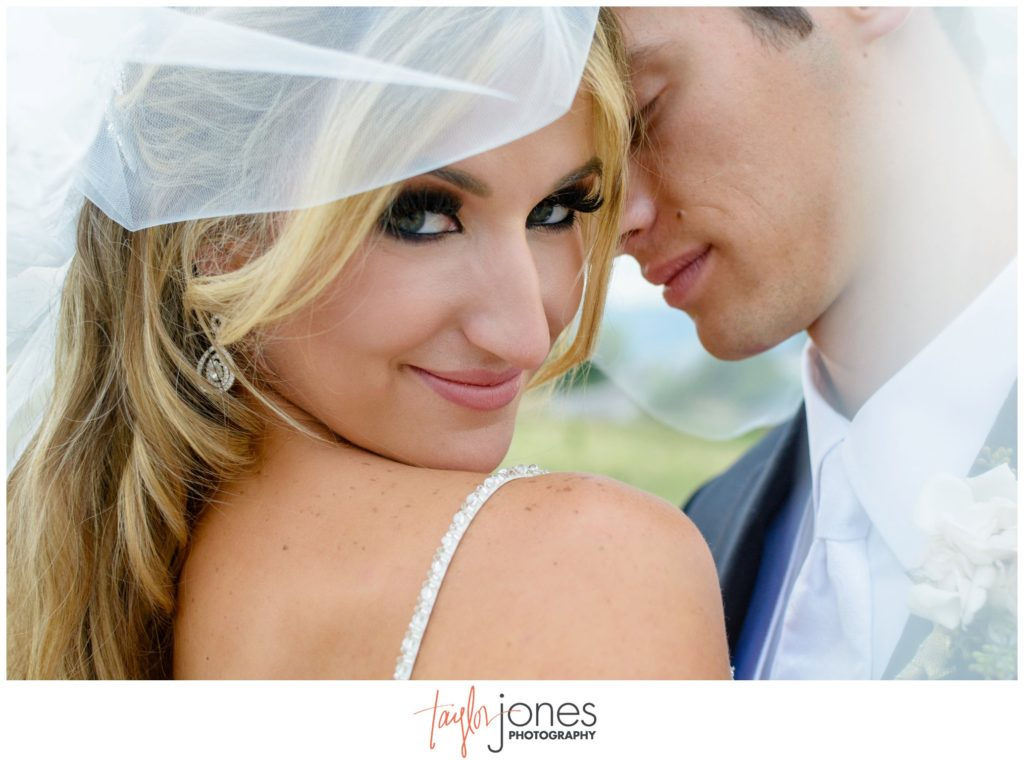 Bride and groom portraits at Highlands Ranch Mansion wedding