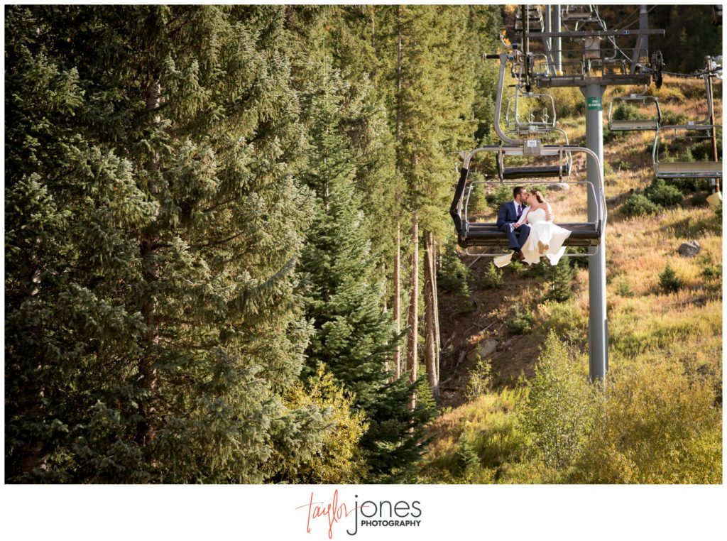 Colorado wedding photographer at Keystone wedding