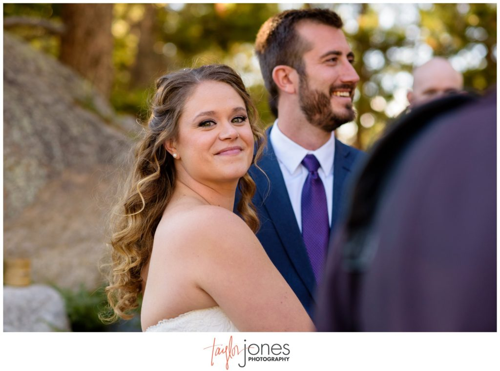 Keystone Colorado fall mountain wedding