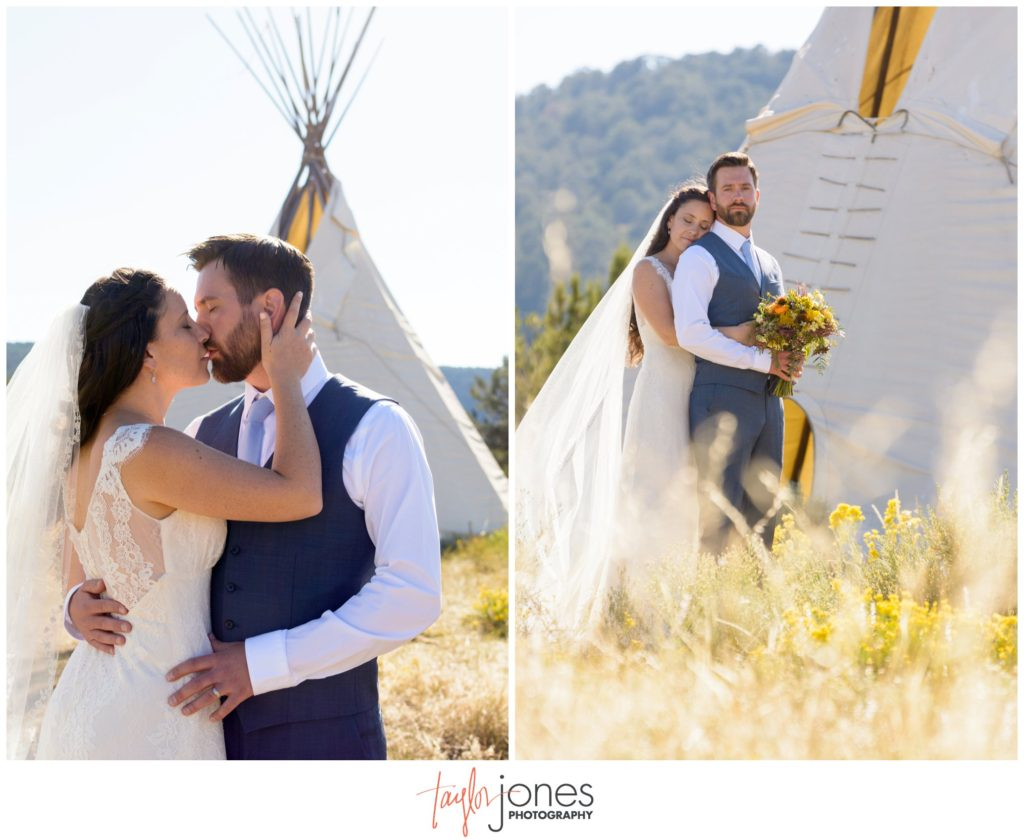 Ouray Colorado wedding photographer at Ridgeway State Park ceremony