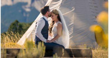 Ouray Colorado mountain wedding photographer the Secret Garden wedding